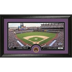 Colorado Rockies Infield Dirt Coin and Panoramic Mint Photo