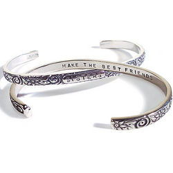 Sisters Make the Best Friends Cuff Bracelet