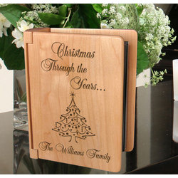 Personalized Christmas Through the Years Wooden Photo Album