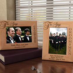 Personalized The Guys, The Groomsmen Wooden Picture Frame