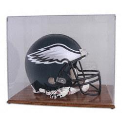 Philadelphia Eagles Oak Helmet Logo Display Case