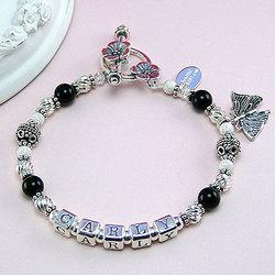 Mommy's Favorite Black Onyx Mother's Bracelet