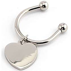 Personalized Heart Charm C-Style Key Ring