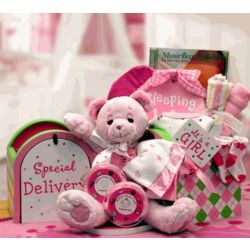 Pink Special Delivery New Baby Gift Set