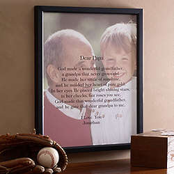Framed and Personalized Sentiments for Him Photo Canvas Art
