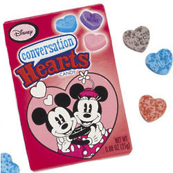 Mickey & Minnie Conversation Hearts Candy Pack