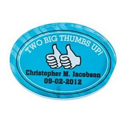 Personalized Thumbs Up Paper Weight