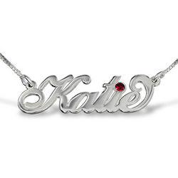 Silver Carrie Style Swarovski Name Necklace