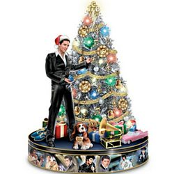 Elvis Rock 'N' Roll Pre-Lit Musical Tabletop Christmas Tree