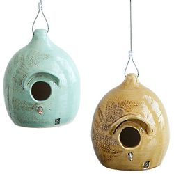 Ceramic Fern Birdhouse