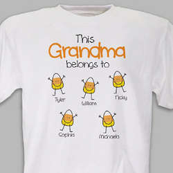 Personalized Halloween Candy Corn T Shirt