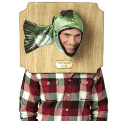 Adult Bass Trophy Head Costume
