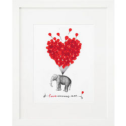 Love Carries All Framed Print