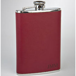 Personalized Fuego Leather Flask