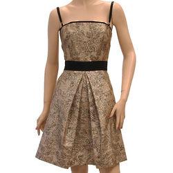 D&G Gold Cotton Knee Length Dress