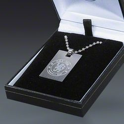 Chelsea Crest Dog Tag Necklace