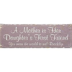 Personalized Daughter's First Friend Canvas for Mom