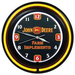 John Deere Farm Implements Double Neon Clock