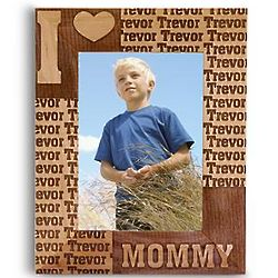 Personalized I Heart 5x7 Wood Frame
