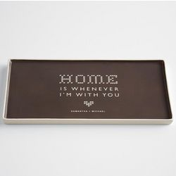 Home Is Whenever I'm with You Ceramic Catchall Rectangle