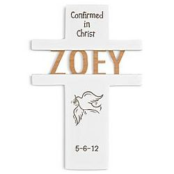 Personalized Confirmation Dove Wall Cross