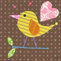 Girl's Mod Chick on Chocolate Wall Art