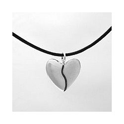 Silver Harmony Heart Necklace with Echo Earrings Gift Set