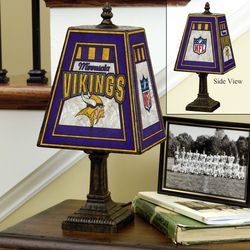 Minnesota Vikings Art Glass Table Lamp
