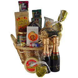 Champagne Celebration and Snacks Gift Basket