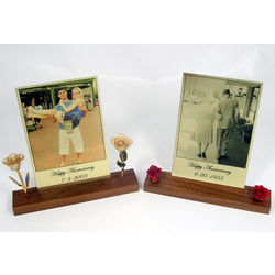 Anniversary Rose Photo Plate