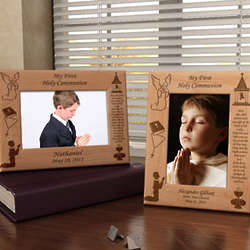Personalized First Communion Wooden Picture Frame