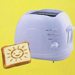 How Are You! Sunny Face 2 Slice Toaster in White