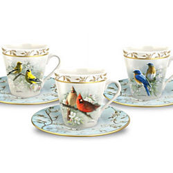 Feathered Friends Teacup and Saucer Set