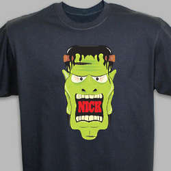 Personalized Halloween Frankenstein T-Shirt