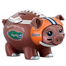 University Of Florida Gators Porcelain Football Piggy Bank