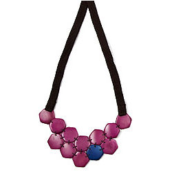 Tagua Honeycomb Bib Necklace