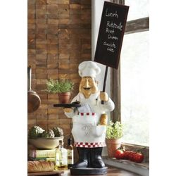 Happy Chef Chalkboard Statue