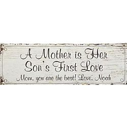 Personalized Son's First Love Canvas for Mom