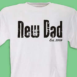 New Dad Personalized T-Shirt