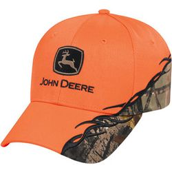 John Deere Blaze Orange with Camo Accent Cap