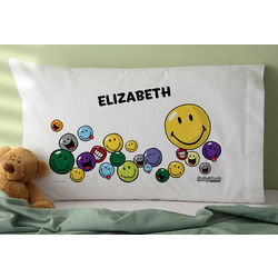 Smiley Face Personalized Pillowcase