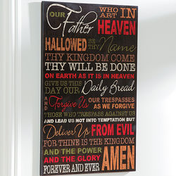 Autumn Colors Lord's Prayer Wall Sign