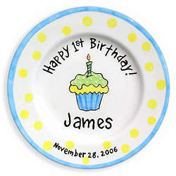Cupcake Happy Birthday Birth Plate