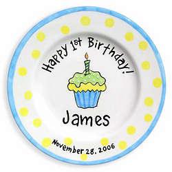 Cupcake Happy Birthday Birth Plate