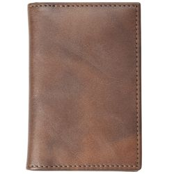 Distressed Leather Business Card Holder