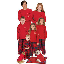Classic Stewart Plaid Matching Family Christmas Pajamas