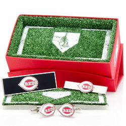 Cincinnati Reds Cuff Links and Money Clip Gift Set