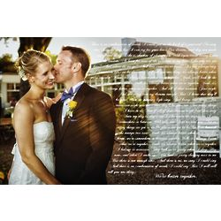 Personalized Canvas 16x24 Wedding Vows Artwork