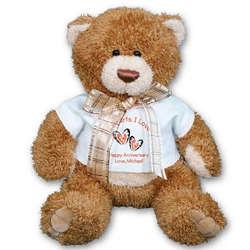 Two Hearts Anniversary Teddy Bear