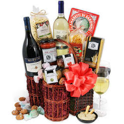 Italian Dinner for Two with Wine Gift Basket